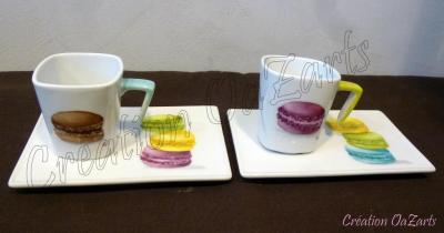 Tasses à café macarons