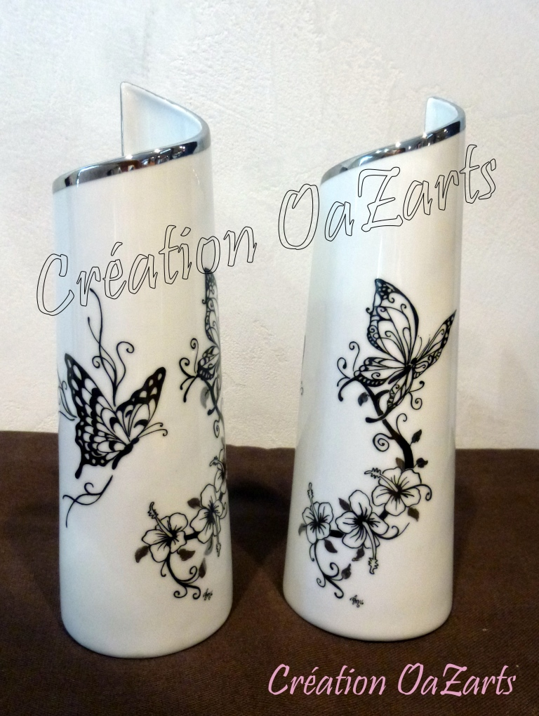 vases papillons hibiscus 1