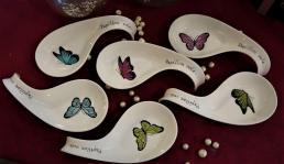 Ensemble cuillers papillons