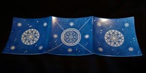 Grand plat apero bleu
