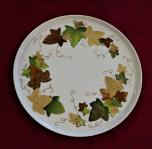 Plat feuilles or