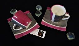 Tasse cafe rose noir